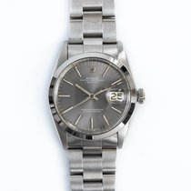 Rolex Oyster Perpetual Date Steel 34mm Grey No numerals United States of America, New York, New York