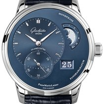 Glashütte Original PanoMaticLunar Steel 40mm Blue United States of America, New York, Airmont