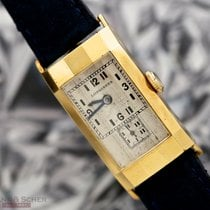 Longines Vintage Rectangular Art Deco 18k Yellow gold Bj- 1935