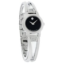 Movado Amorosa Diamond Ladies Stl. Steel Swiss Quartz Watch...
