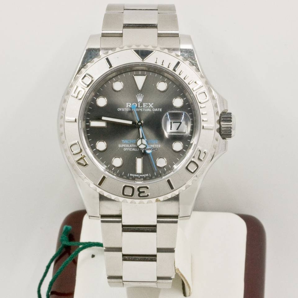 d71cf4e86b5 Rolex Yacht-Master 116622 Platinum Rhodium Dial Box   Papers 2016 for   10