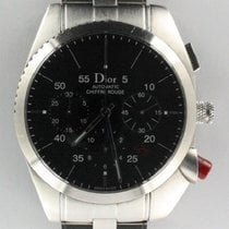 Dior Chiffre Rouge Stal 38mm Czarny