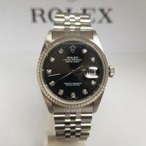 Rolex Datejust 36mm 16234 acciaio ghiera oro18kt e diamanti