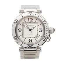 Cartier Pasha Seatimer Steel 40mm White Arabic numerals