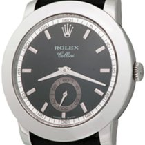 Rolex Platinum Manual winding No numerals 38mm pre-owned Cellini