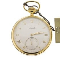 Zenith Watch new Yellow gold 47mm Roman numerals Manual winding Watch with original box