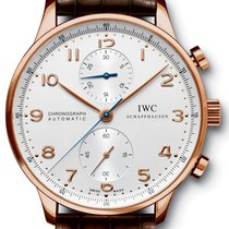 IWC Portuguese Chronograph Rose gold 40.9mm Silver Arabic numerals United States of America, New York, New York