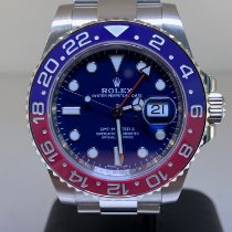 Rolex GMT-Master II Oro blanco 40mm Azul Sin cifras