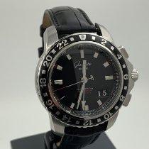 Glashütte Original Chronograph 42mm Automatik gebraucht Sport Evolution GMT Schwarz