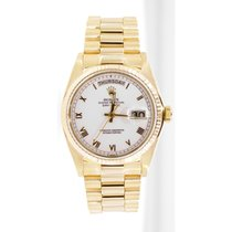 Rolex Yellow gold Roman numerals 36mm pre-owned Day-Date 36
