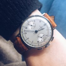Tavannes Chronograph 35mm Manual winding 1950 pre-owned White