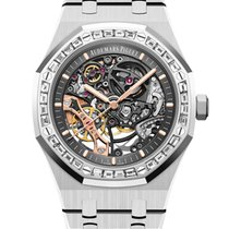 Audemars Piguet Royal Oak Double Balance Wheel Openworked White gold 41mm Transparent No numerals United States of America, New York, New York