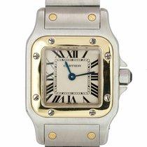 Cartier Santos Galbée Acero y oro 24mm Blanco Romanos