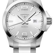 Longines L3.760.4.76.6 Steel Conquest 43mm new