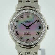 Rolex Cellini pre-owned 26.6mm Mother of pearl White gold
