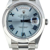 Rolex Day-Date 40 Platinum 40mm Blue United States of America, Illinois, BUFFALO GROVE