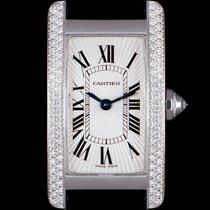 Cartier Tank Américaine White gold 19mm Silver Roman numerals