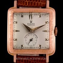 Rolex 18k Rose Gold Perpetual Cream Dial Vintage Gents Watch 4643