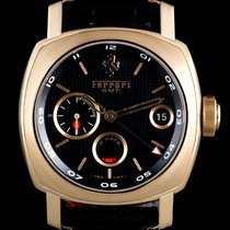 Panerai 18k R/G Black Dial 8 Days GMT Ferrari Ltd Ed B&P...