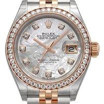 Rolex Lady-Datejust 28 279381RBR Perlmutt Diamant Jubile-Band