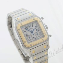 Cartier Santos Galbée tweedehands 30mm Goud/Staal