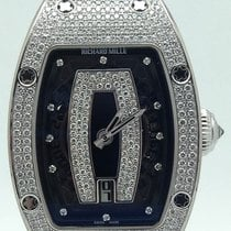 Richard Mille Rm07-01 18k White Gold And Diamond Pave Automati...