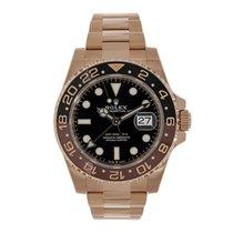 Rolex GMT-Master II Or rose 40mm Rose Sans chiffres