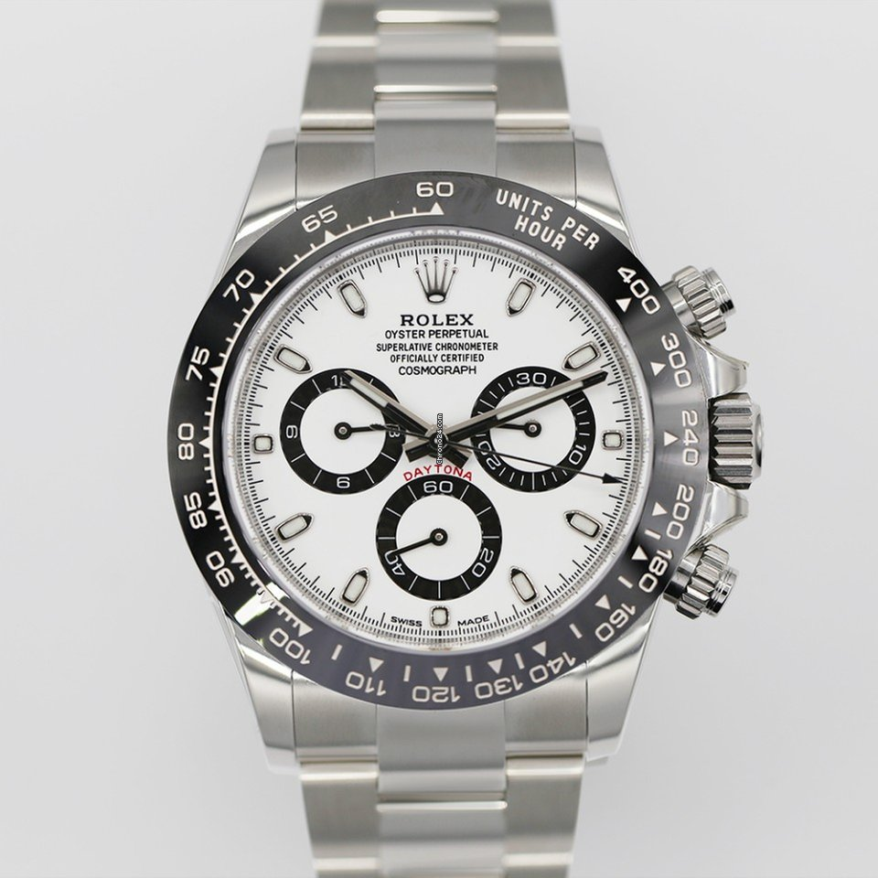 39d3ffeb3743d Rolex Daytona 40 mm Stainless Steel Ref# 116500ln White Dial B+P for  $28,500 for sale from a Trusted Seller on Chrono24