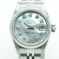 Rolex Сталь Автоподзавод Перламутровый Без цифр 26mm подержанные Lady-Datejust