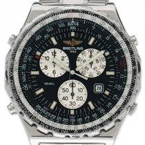 Breitling Jupiter Pilot Reveil Stahl Quarz Chronograph Armband...