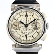 Tavannes Chronograph 35mm Manual winding pre-owned Silver