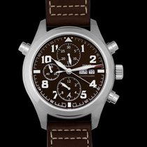 IWC Pilot Double Chronograph Steel 44mm Brown United States of America, California, San Mateo