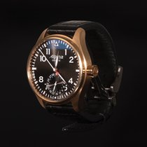 Alpina Startimer Pilot Manufacture Rose gold 44mm Black Arabic numerals