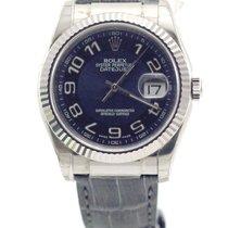 Rolex Witgoud Automatisch Blauw Arabisch 36mm nieuw Datejust