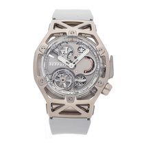 Hublot Oro blanco Cuerda manual Gris Sin cifras 45mm usados Techframe Ferrari Tourbillon Chronograph