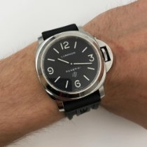 Panerai Luminor Base Logo Aço 44mm Preto Árabes