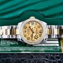 Rolex Lady-Datejust Goud/Staal 31mm Champagne Arabisch