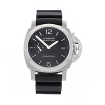 Panerai Luminor Marina 1950 3 Days Automatic Сталь 42mm Чёрный Aрабские