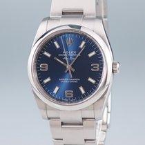 Rolex Oyster Perpetual 34 Aço 34mm Azul