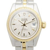 Tudor Prince Date Gold/Steel 25mm Silver