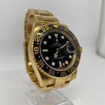 Rolex Or jaune Remontage automatique Noir Sans chiffres 40mm nouveau GMT-Master II