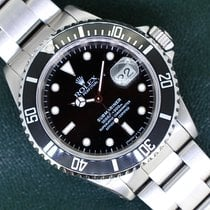Rolex Submariner Date 16610 Very good Silver 40mm Automatic