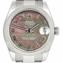 Rolex Lady-Datejust Gold/Steel 31mm Mother of pearl Roman numerals