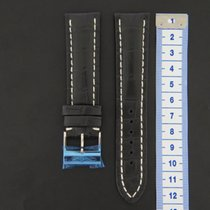 Breitling crocodile Leather Strap 22 mm + Buckle