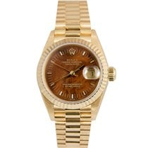 Rolex Datejust President Ladies 18k, Wood Dial, Ref: 69178