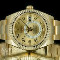 Rolex Sky-Dweller 18K Yellow Gold Champagne Dial - NEW