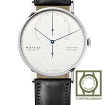 NOMOS White gold Manual winding White No numerals 42mm new Lambda