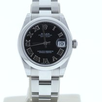 Rolex Lady-Datejust 31mm Чёрный Римские