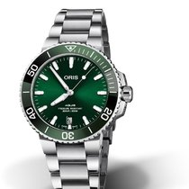 Oris Aquis Date Steel 39.50mm Green No numerals United States of America, Texas, FRISCO