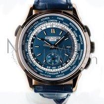 百达翡丽  World Time Chronograph 白金 39.5mm 蓝色
